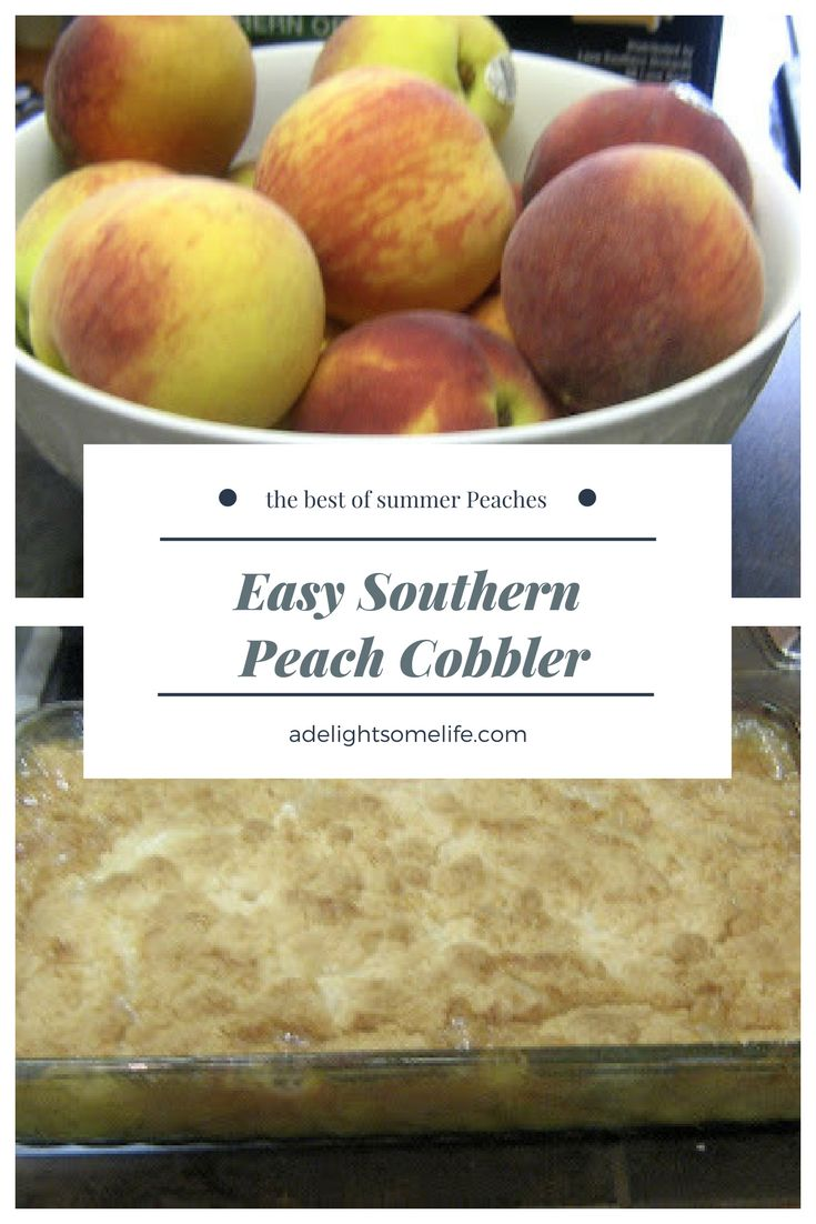 Easy Southern Peach Cobbler - summer's best fruit makes such a wonderful, quick dessert! #peaches #peachcobbler #dessert #cobblers #easydesserts