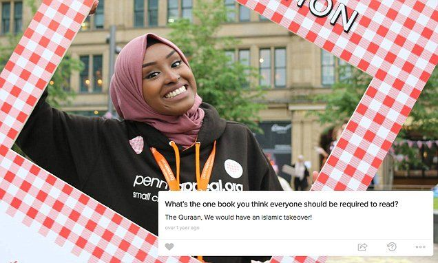 EXCLUSIVE: Zamzam Ibrahim, who is president of the University of Salford's Students Union suggested if more people were to read the Koran there would be 'an Islamic takeover.'