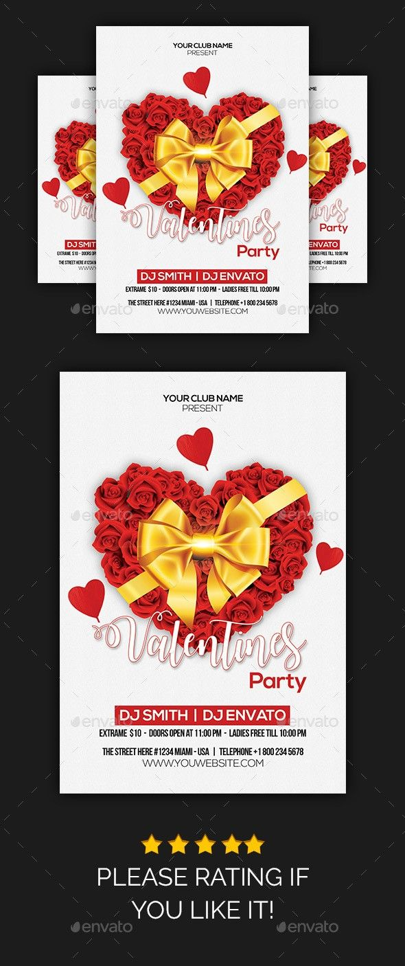 Club Flyer Flyer Print Flyer Template Love Love Day Love Flyer