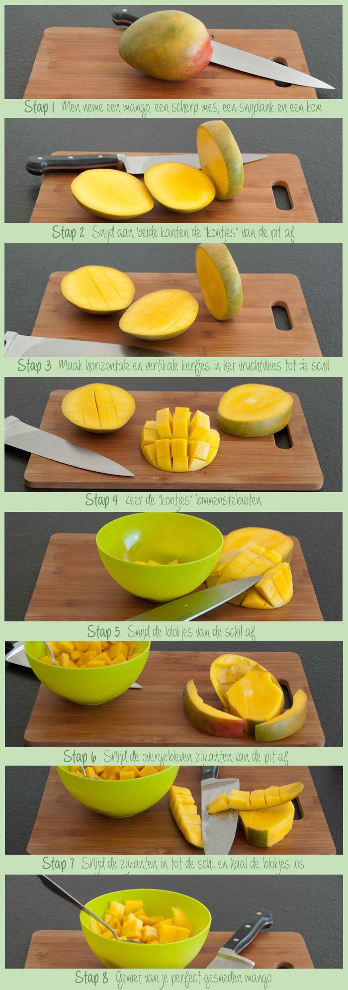 Mango schillen