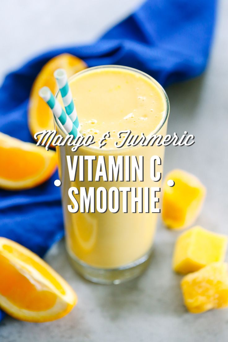 A refreshing vitamin C smoothie made with mango, oranges, and turmeric. This smoothie is so delicious and easy to make.