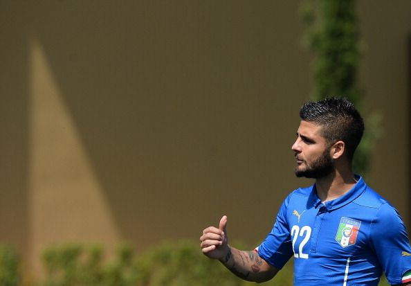 Italy's national football team forward Lorenzo Insigne arrives for a team picture at Florence's Coverciano training ground on June 3, 2014 ahead of friendly matches for the upcoming FIFA World Cup in Brazil.