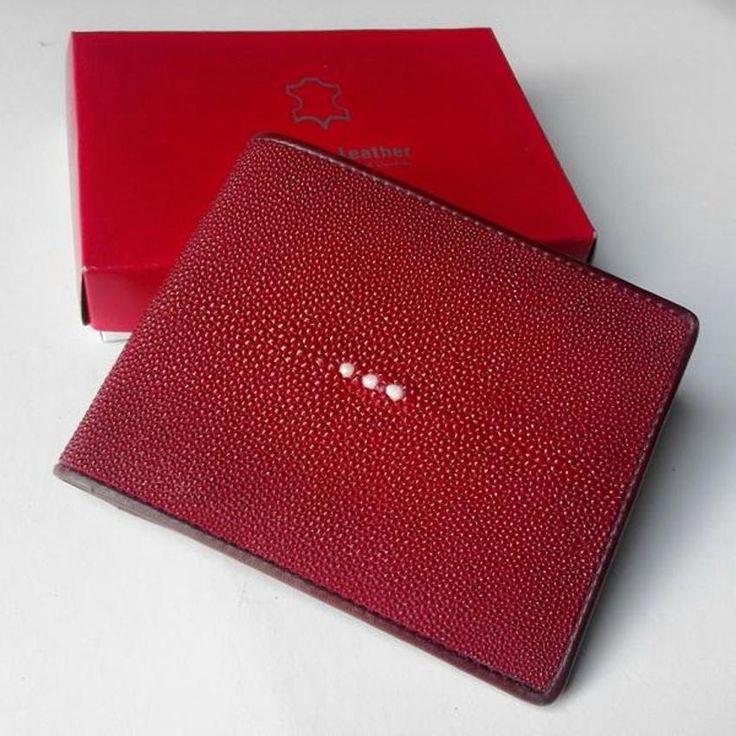 Stingray bifold wallet   dompet pria kulit ikan pari  bisa jadi pilihan gaya kamu!  jaminan 100% ...
