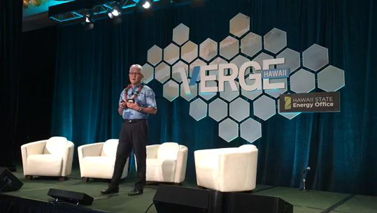 """""""It's not 'one size fits all' -- beyond wind and solar, we are agnostic as to which technologies can help us get to our 100% (renewable energy). We have to be. Technology is changing at such a rapid pace, we have to be open to emerging technologies."""" -- View Hawaiian Electric President and CEO Alan Oshima's """"VERGE Talk"""" at the VERGE Hawaii 2017 Conference here: https://www.facebook.com/HawaiianElectric/videos/1564874653554281/."""