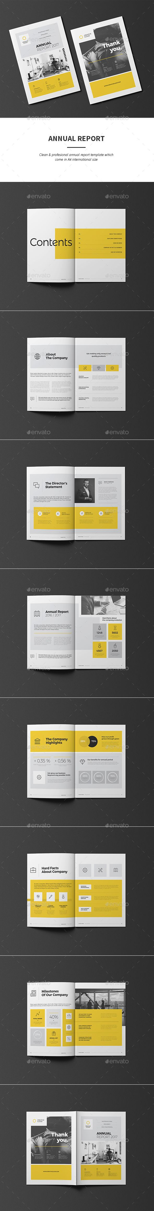 Annual Report by -BeCreative- Annual Report Template: Annual Report template created in Adobe InDesign, it comes in International A4 paper size.Key Features:16