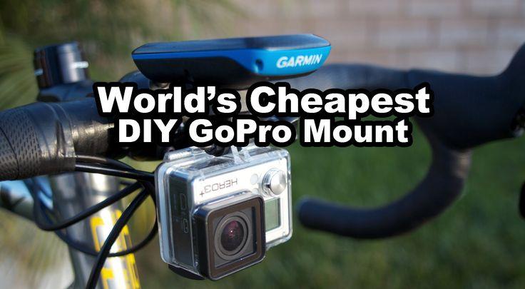 Worlds Cheapest DIY Bike Go Pro Mount