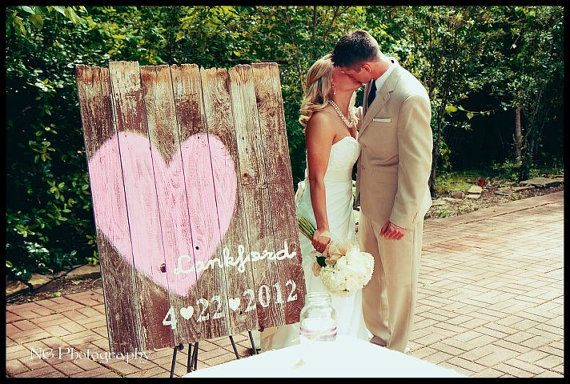 barn wood wedding sign.