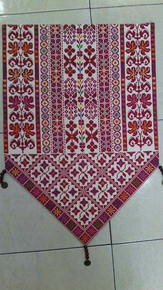Traditional Palestinian cross stitch