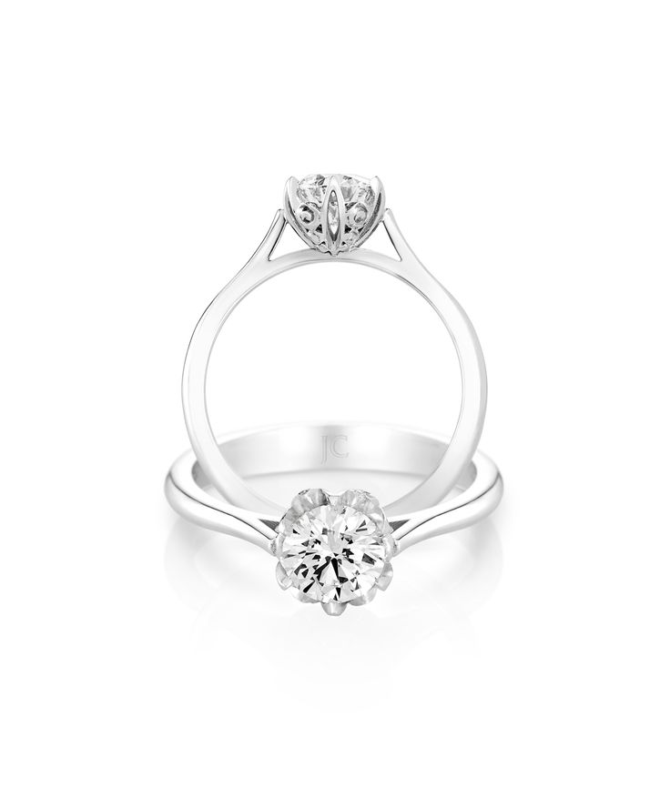 Jenna Clifford Rose Solitaire - The perfect classic engagement ring with a little extra