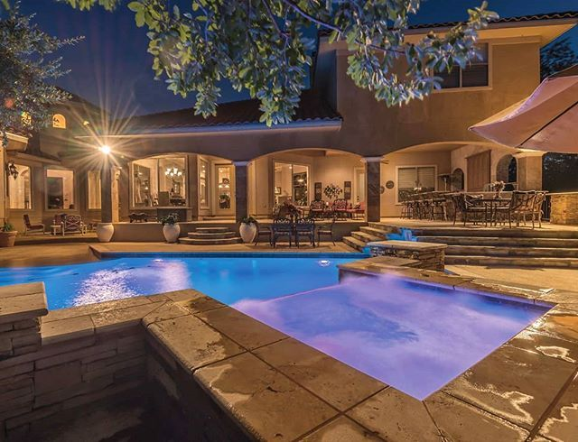 A #LuxuryHome Perfect for #Entertaining: this striking #Mediterranean home in the guarded community of Champions Ridge has incredible outdoor living. The backyard has a relaxing #lighted pool and spa, w/ ample seating, outdoor kitchen, large covered patio, & breathtaking sunset views. Private master suite, study that can be used as 6th bed, & guest suite down. Large kitchen with separate dining looks over naturally lit family room. Upstairs gameroom opens more entertaining possibilities w/ 3…