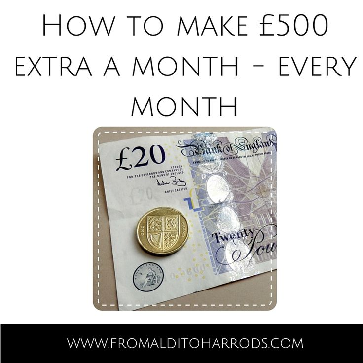How to make an extra £500 a month - every month.