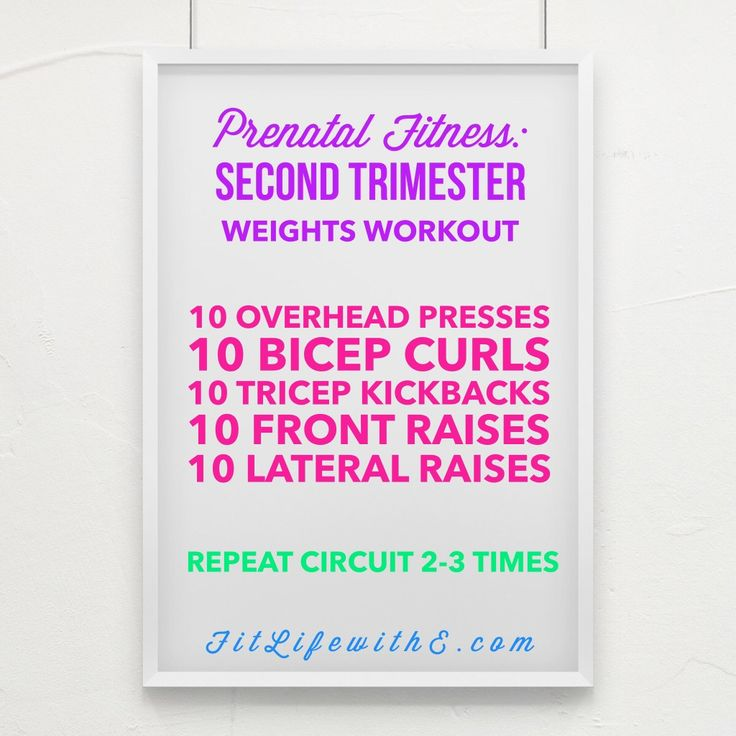 Prenatal Fitness - Second Trimester Weights Workout