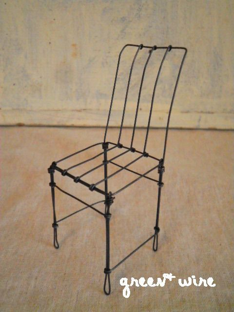Wire doll house chair