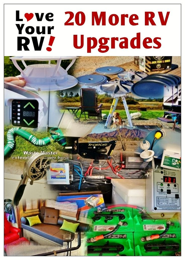 20 more RV upgrades I've made to our fifth wheel trailer by the Love Your RV! blog - http://www.loveyourrv.com/ #RV #RVing