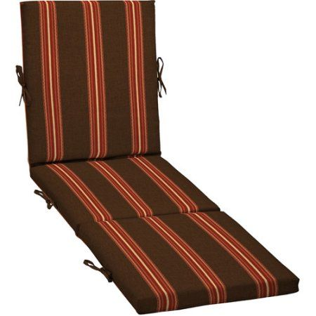Better Homes and Gardens Outdoor Chaise Cushion, Ribbon Stripe, Multicolor