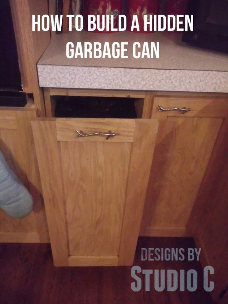 how to build wood garbage can