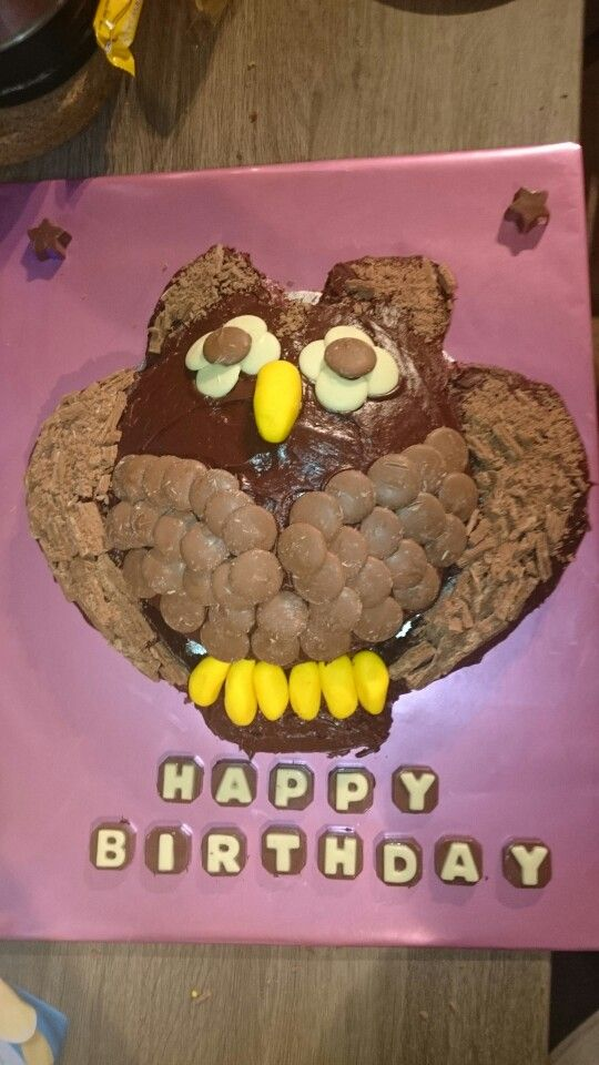 Its been a while! Owl  birthday cake