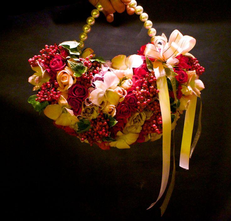 Sakie's Floral Design  www.hanasakie.com unusual wedding bouquet #unique #wedding #bouquet