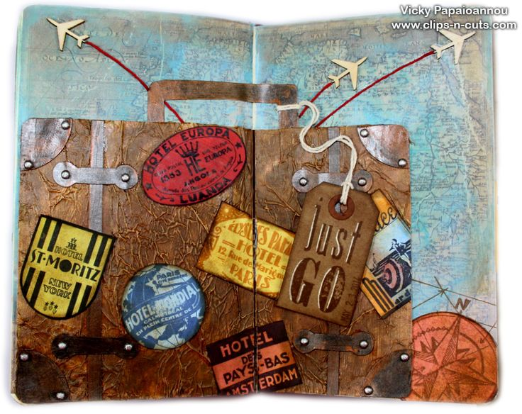 I just love this gal's art journal pages...and she has videos of step by step how to that almost convince me that I could do this.