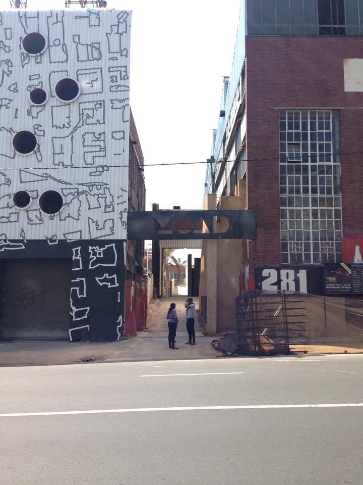 Entrance to Poolside, 281 Commissioner Street, Maboneng Precinct