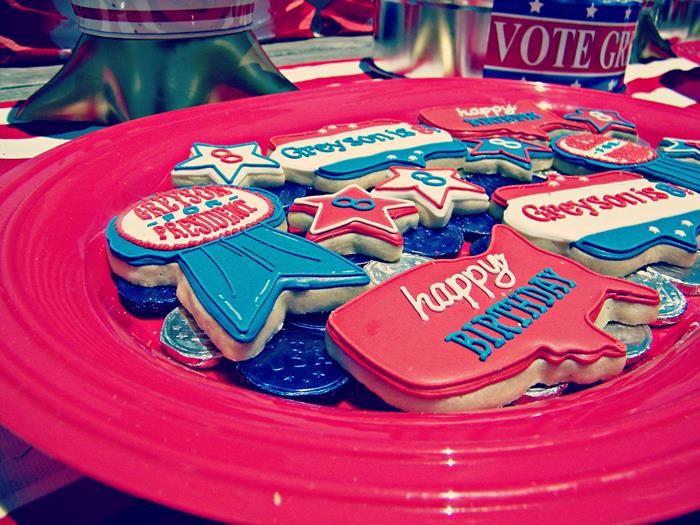Greyson for President Birthday Party via Kara's Party Ideas   Kara'sPartyIdeas.com #president #party #election #idea (22)