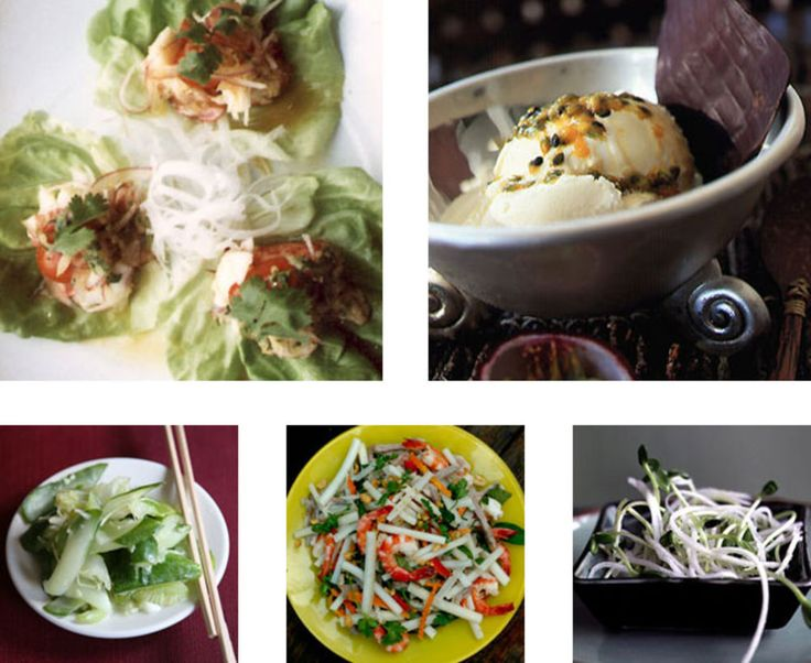 When it's hot outside, the very last thing anyone wants to do is turn on the oven - but that's no reason not to host a dinner party! It's time to pull out our favorite no-cook recipes, serve vegetables pickled instead of roasted, feature sushi-grade raw seafood, and make sure the ice cream maker gets plenty of exercise. This menu, featuring light, refreshing Asian-inspired flavors, requires no heat at all, so you can host a festive dinner party even on the warmest night of the yea...