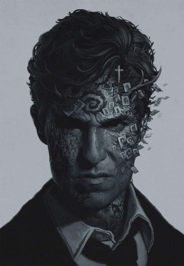 True Detective poster by Yuri Shwedoff, via Behance #true #detective #portrait #art #drawing