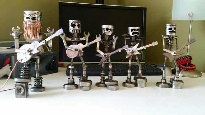 Some metal art guitar rockers I made a while back. Made from scrap metal and reclaimed parts.