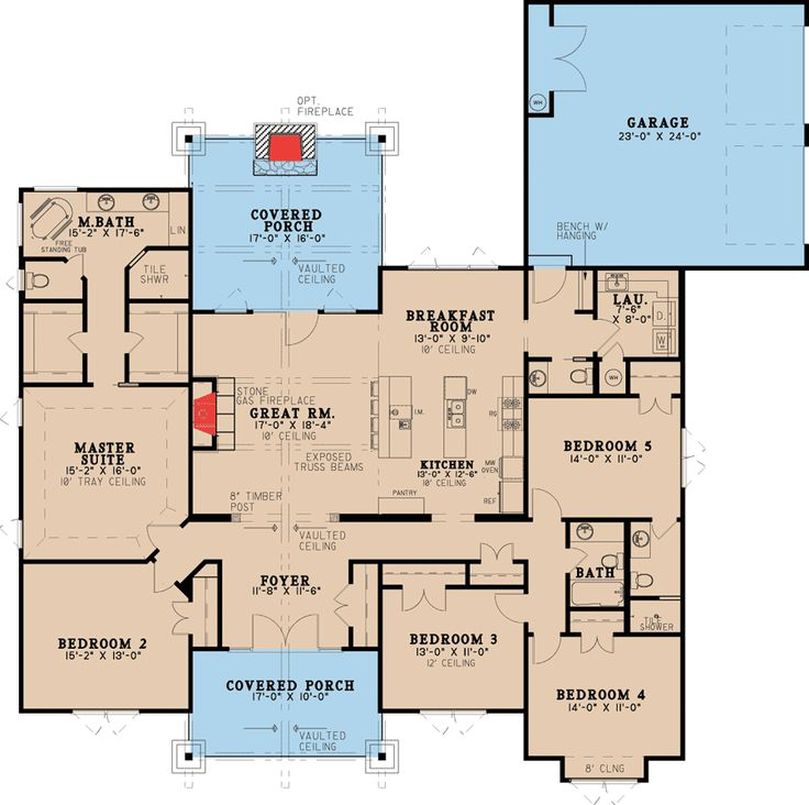 plan 70532mk five bedroom rustic house plan - Rustic House Plans 2