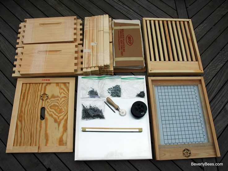 An unassembled bee hive can be overwhelming to a beginner beekeeper, but don't worry it's not as complicated as it looks. Your unassembled bee hive kit will look similar to this one when it arrives from the store.