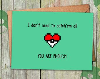 Pokemon Anniversary Card Pokemon GO Valentines Day by playerNo2