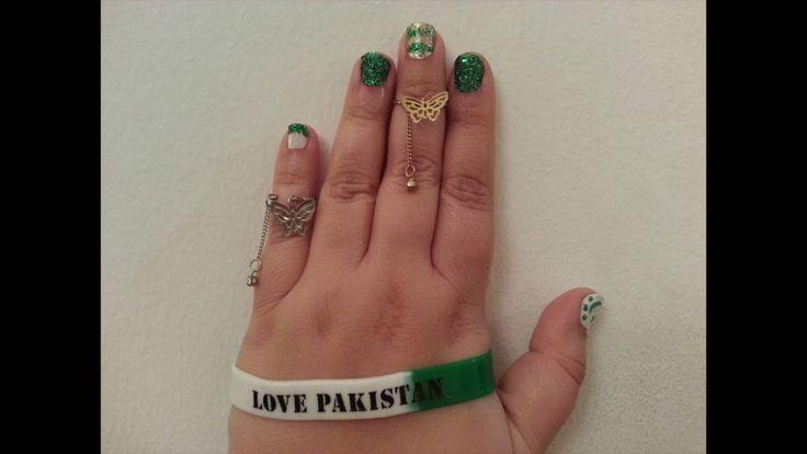 Pakistan Independence Day Nail Art