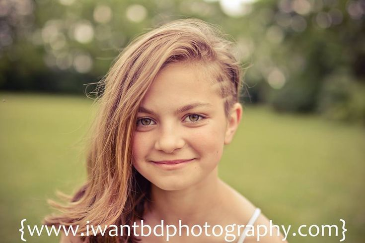 little girl with trendy hair side shave undercut half shave child haircut razor designs