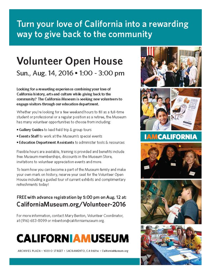 join us on sun aug 14 for our volunteer open house