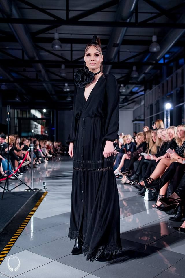 Dark Thorn Clothing's Almira maxi dress on the runway at the Boutique Series Black Dress 2016 held at the Mercedes Benz Adelaide showroom. Models: Finesse Models Australia Hair: Zink Makeup: Lauren Parkinson Styling: Cimon Styling  Almira: www.darkthornclothing.com/collections/new-moon/products/almira-maxi-dress-pre-order