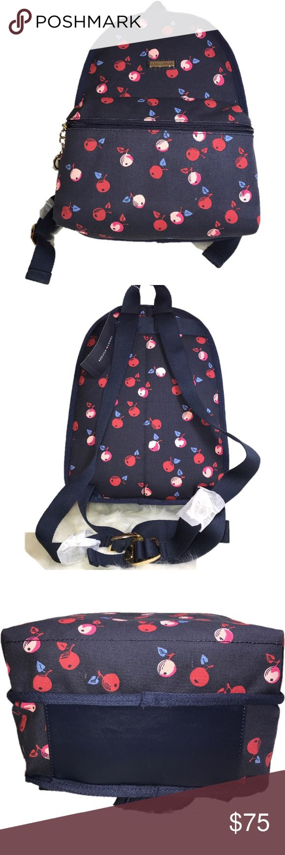SALE!NWT TOMMY HILFIGER BLUE W/ CHERRIES BACKPACK New with tag Tommy Hilfiger backpack for only US$75 cute and trendy trendy  100% authentic Best to use this coming school year!🌸 Tommy Hilfiger Bags Backpacks