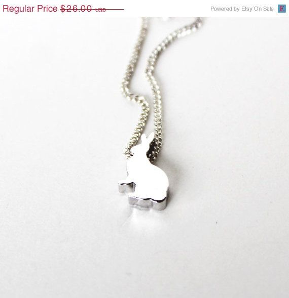 Early Easter Sale Bunny rabbit shiny silver by bunnyboutique