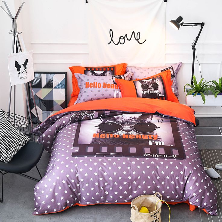 4Pcs 100% Cotton Dogs Cats 3D print Cute Bedding sets Queen King size Bed sheet Duvet cover set pillowcases housse de couette. Yesterday's price: US $126.67 (103.76 EUR). Today's price: US $81.07 (66.70 EUR). Discount: 36%.