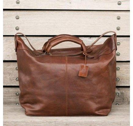 Cognac Braune Luxus Reisetasche aus italienischem Leder (Fabrizio)
