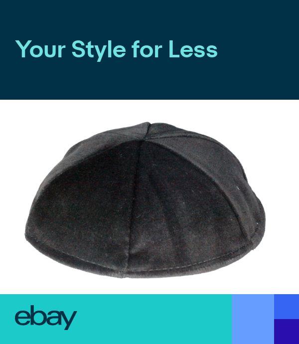 Kippah 19 20 21 22 23 24 cm Size Velvet Kipa Black Yarmulke Jewish Kippa Hat