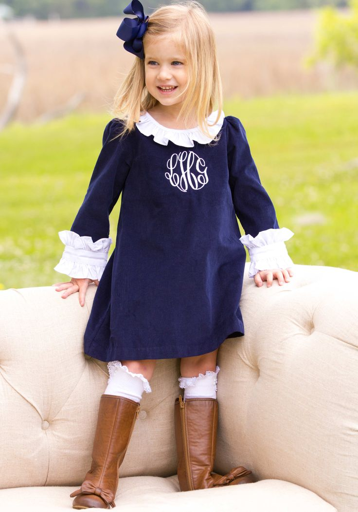 navy dress with white trim shrimp and grits kids  | Home > Girls > Dresses > Navy School Girl Dress