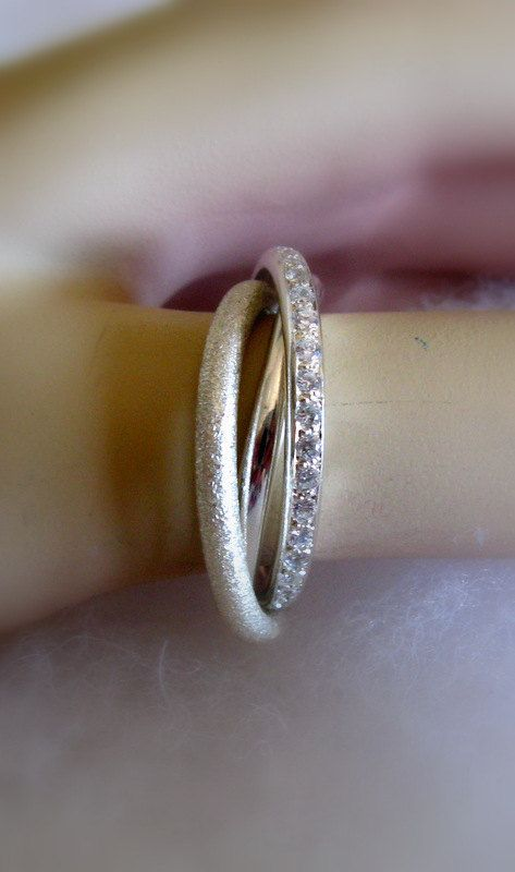 Fine Jewelry - Russian Wedding Bands - Engagement Ring -  Handmade Trinity Wedding Band. This one is my favorite!!