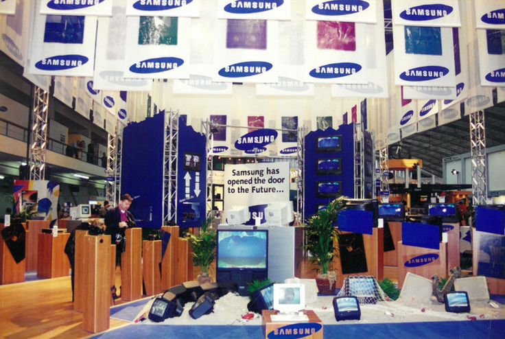 The very first #exhibition #booth of The Inside stand building in 1996 - 180 baniers
