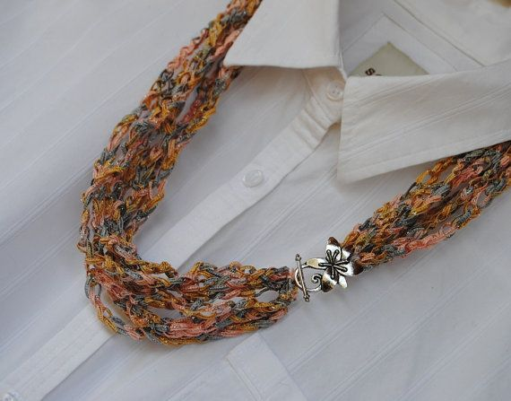 how to make a ribbon necklace with clasp