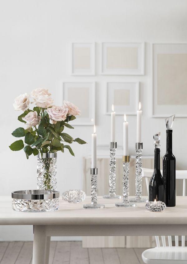 Orrefors Kosta Boda - vase and candle holders
