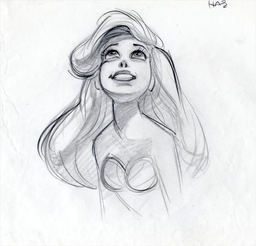 Ariel. Disney conception art