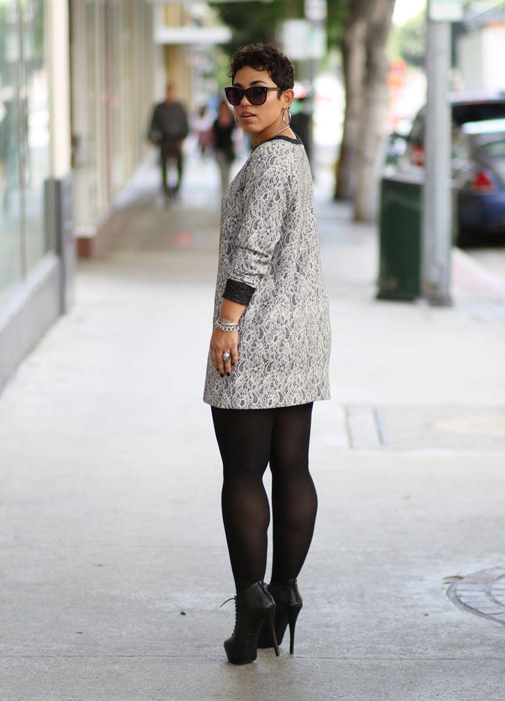 DIY Lace Sweater Knit Dress + Sew-Along - Mimi G Style