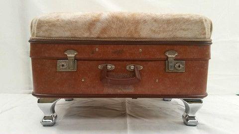 Vintage Suitcase Ottomans