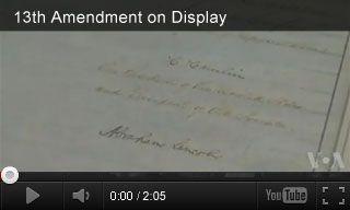 video 13th amendment on display 5th grade pinterest civil wars war and videos. Black Bedroom Furniture Sets. Home Design Ideas