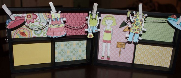 """This is using CTMH Paper Doll Stamp Set and the 5"""" x 7"""" Hinged Display Tray."""